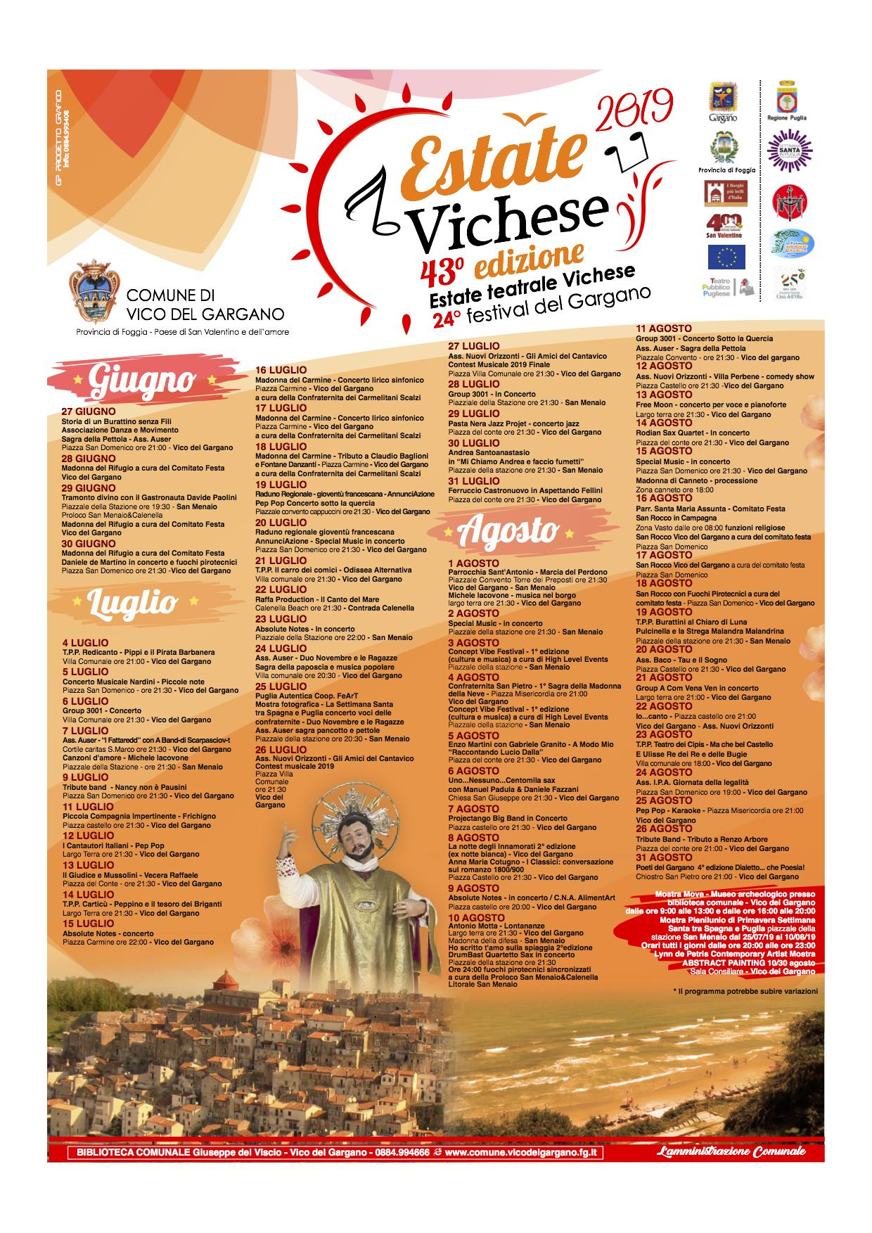 Programma ESTATE Vichese 2019